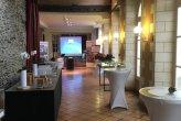 Prestation pour Bouygues Immobilier avec écran plat, sonorisation Bose L1, micro sans fil, vidéoprojecteur + écran et musique lounge le 15 & 16 mars 18 @ Château de la Romanerie Bon Bétend Réception.  Dj Angers Dj Maine et Loire Dj 49